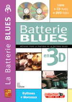 La batterie blues en 3D