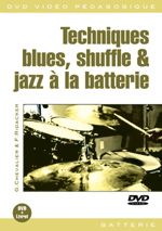 Techniques blues, shuffle et jazz à la batterie